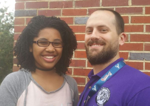 Grace Stanley with Joseph Snyder, Principal of Brown-Barge Middle School. (Eurydice/Stanley/Special to The Pulse)