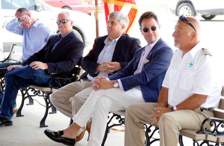 Local officials gather for the christening of Pensacola's new ferry boats. (Bruce Graner/The Pulse)