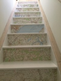 Map Wallpaper Stairs   The Pumpkin Room