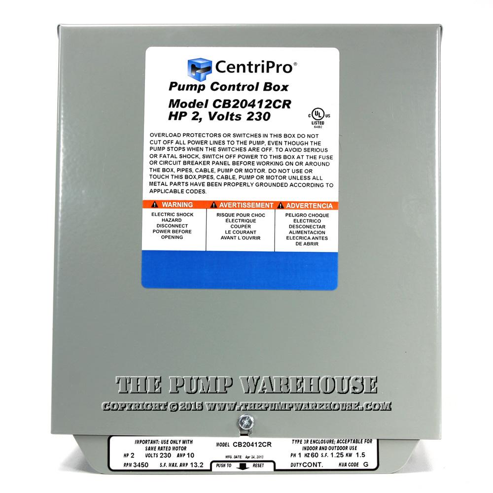 medium resolution of centripro cscr control box 2 hp 230v rh thepumpwarehouse com centripro pump control wiring diagram submersible well pump control box