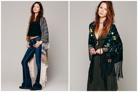 Obviously Stevie's most famous accessory is the shawl. It is mandatory for twirling around and being a fairy princess, obviously. Mixed Medallion Print Shawl (Free People) Floral Embroidered Triangle Shawl (Free People)