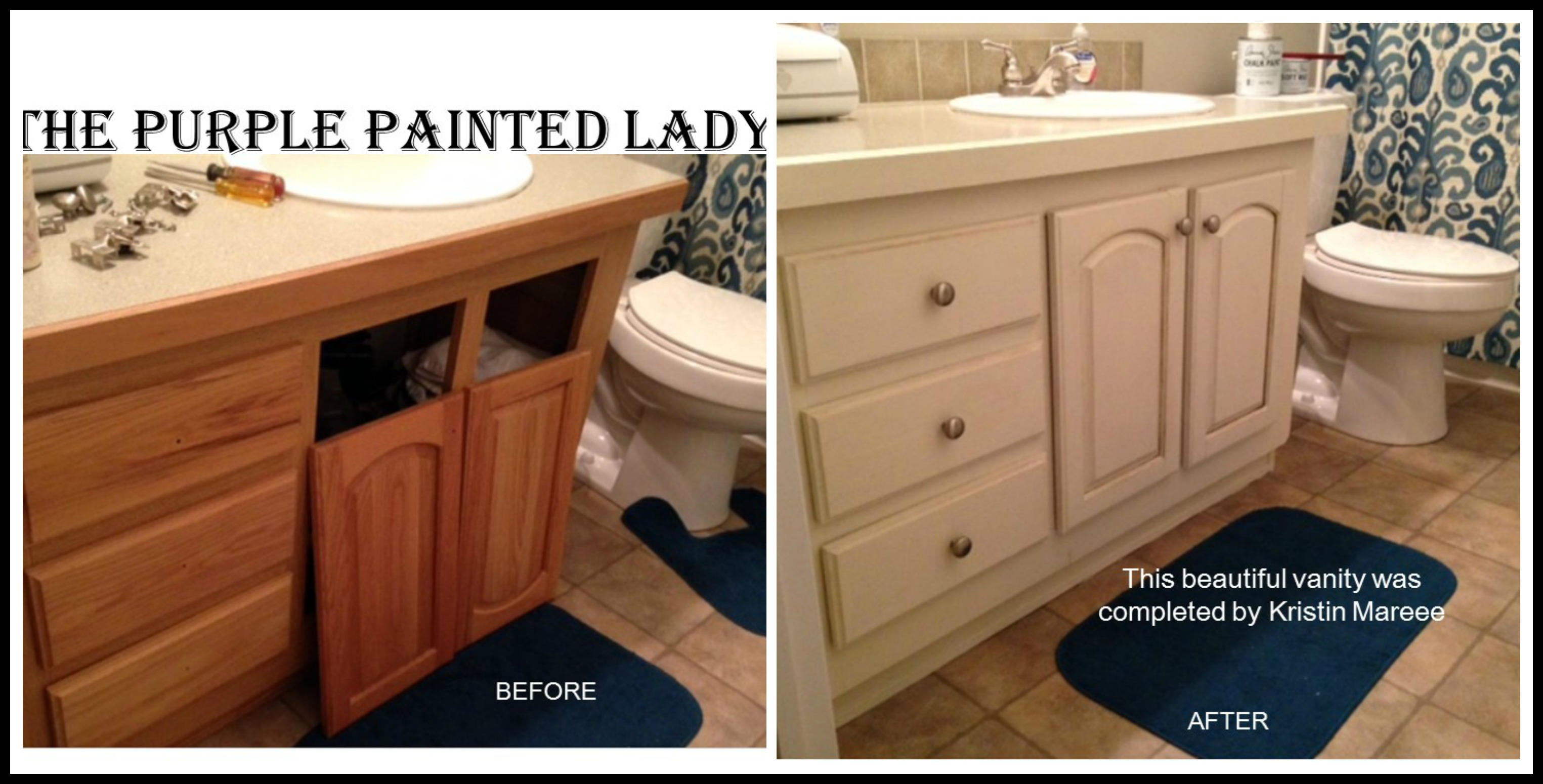 Painted Bathroom Vanity Vanity The Purple Painted Lady