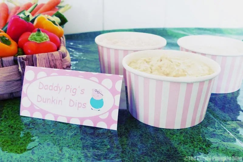 Peppa Pig Party Food Idea - Daddy Pig's Dunkin' Dips