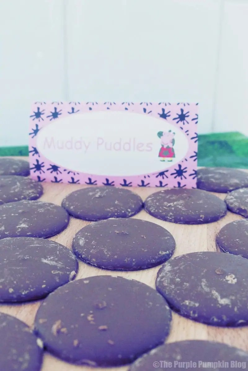 Peppa Pig Party Food Ideas - Muddy Puddles