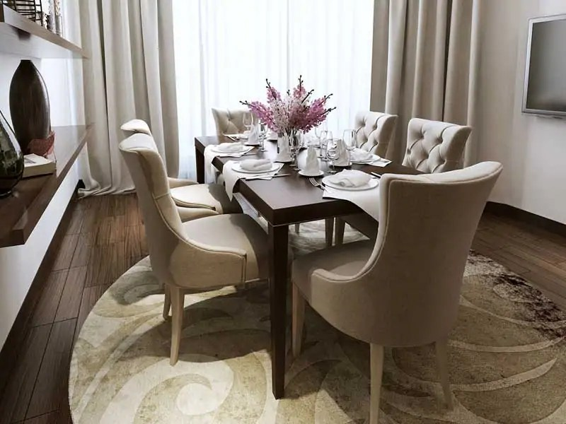 Choosing The Perfect Dining Room Round Rugs » The Purple