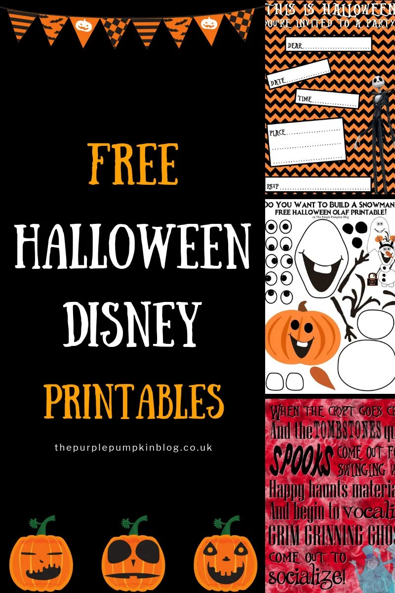Free Halloween Disney Printables