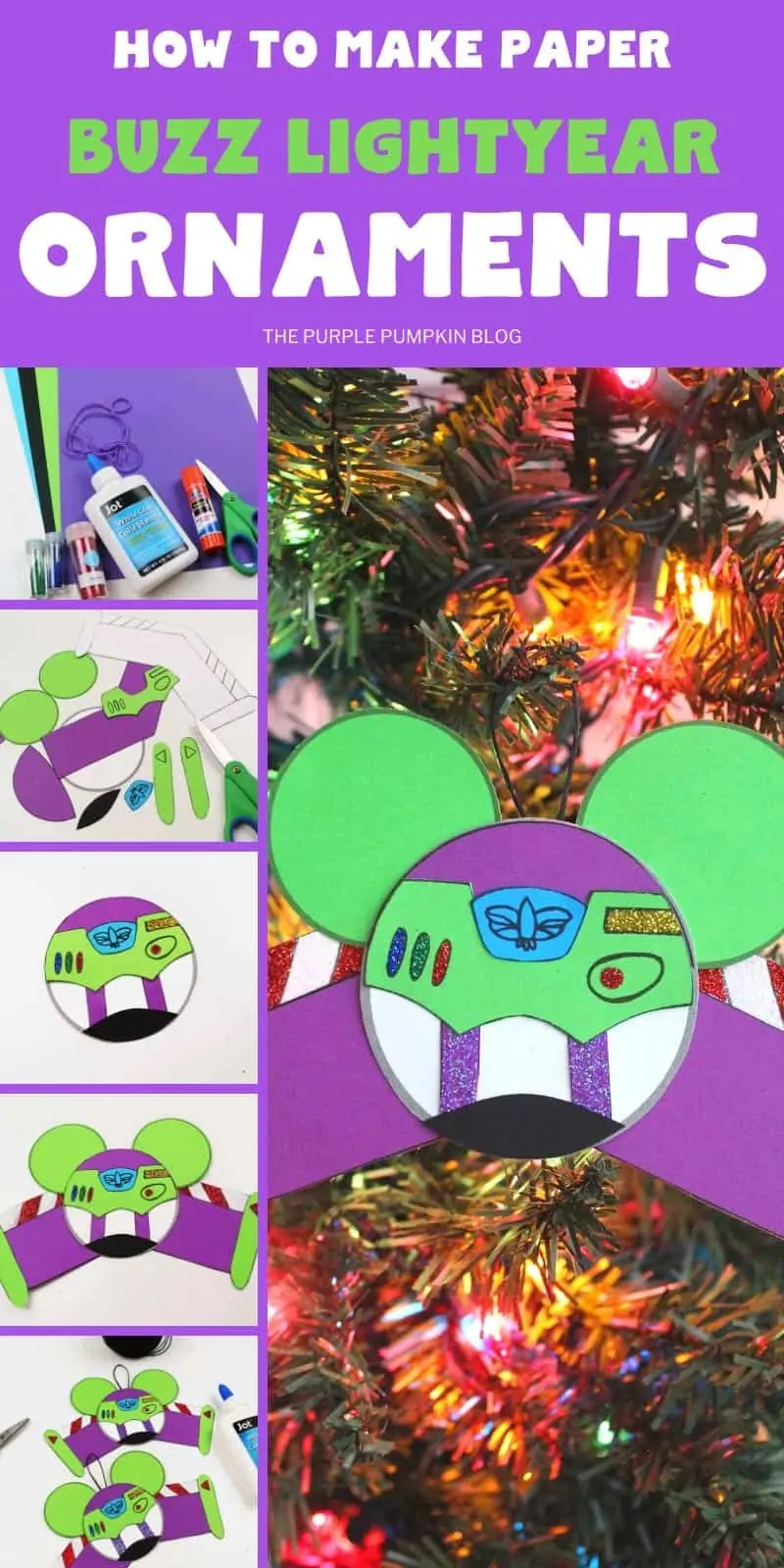 how to make Buzz Lightyear ornaments