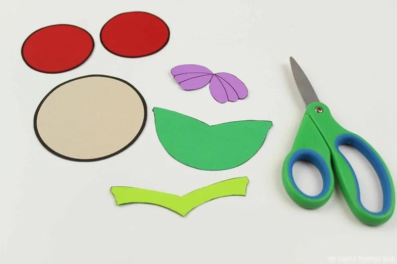 Ariel Template Pieces Cut Out