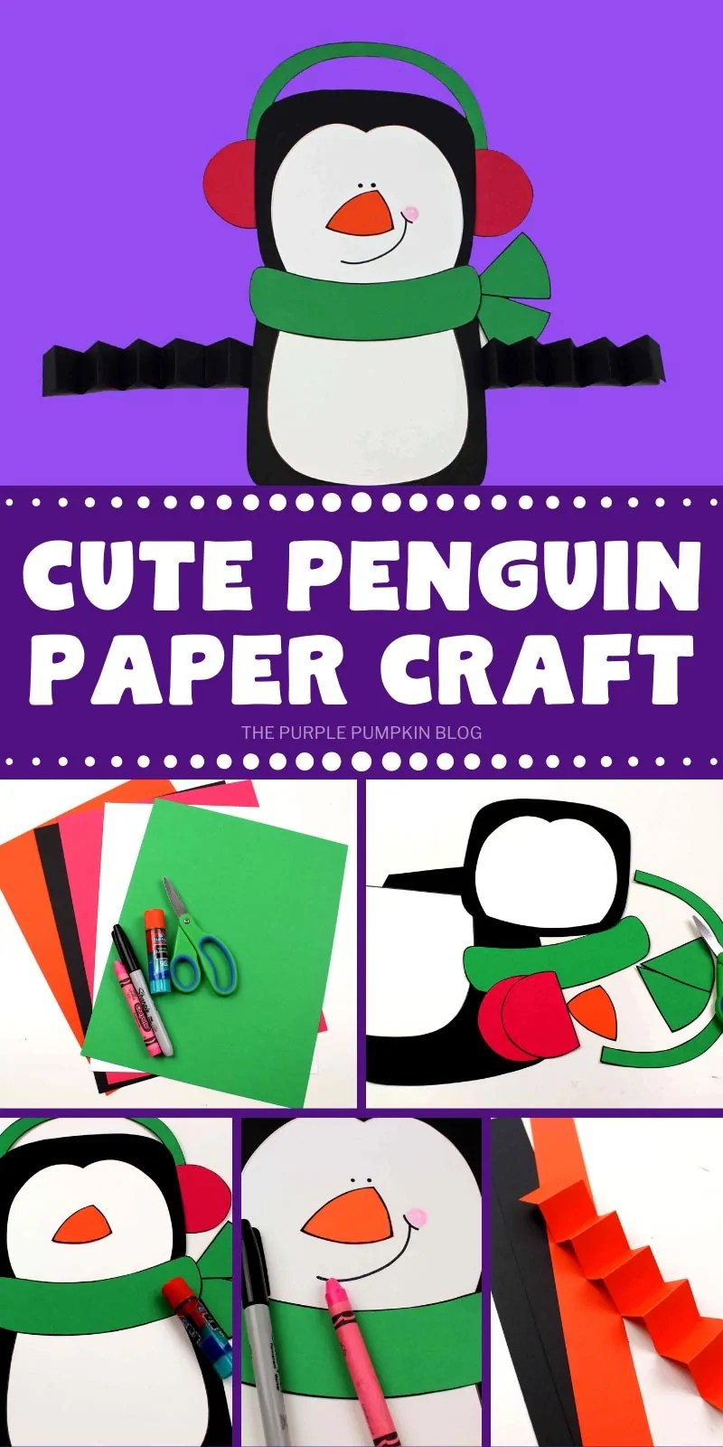 How to make a cute paper penguin craft