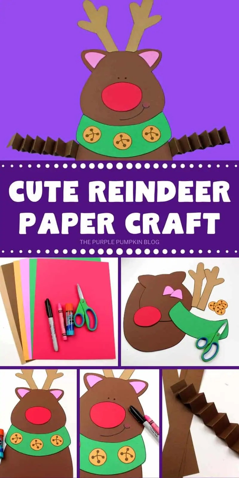 cute reindeer paper craft