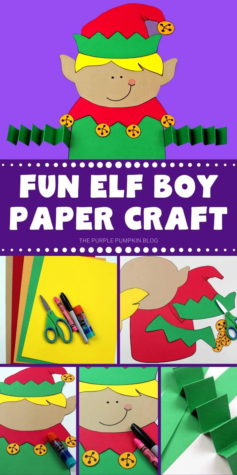 Fun Elf Boy Paper Craft with step by step photos