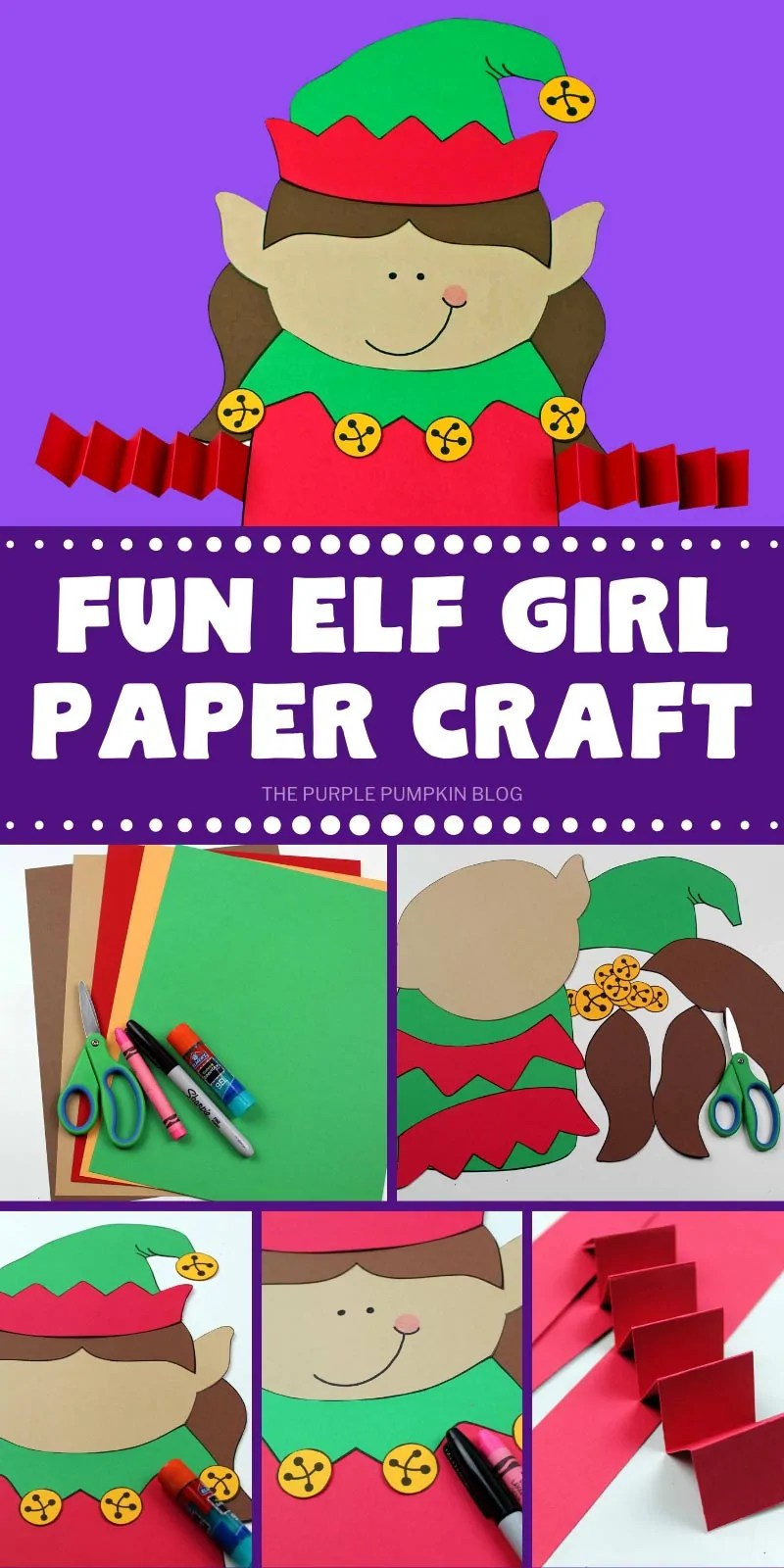 how to make a fun elf girl paper craft with step by step photos