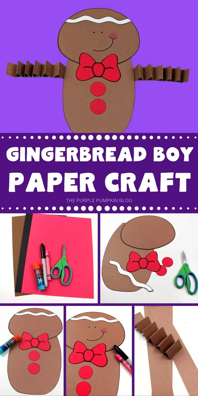 How to make a gingerbread boy paper craft with step by step photos