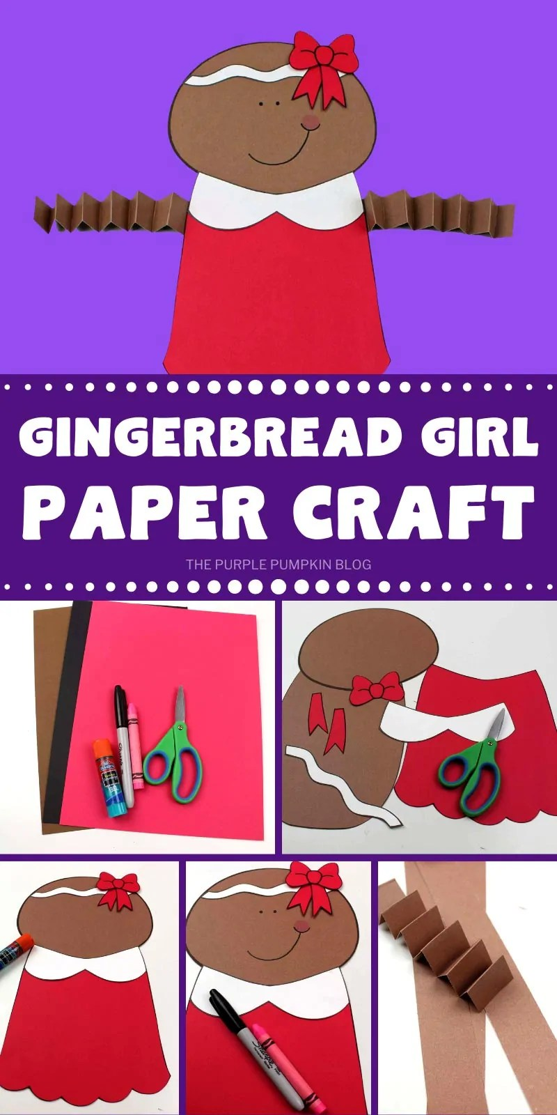 How to make a gingerbread girl paper craft with step by step photos