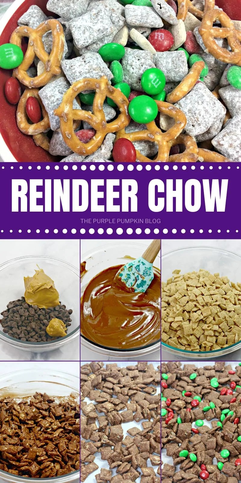 How to make Reindeer chow with step by step photos
