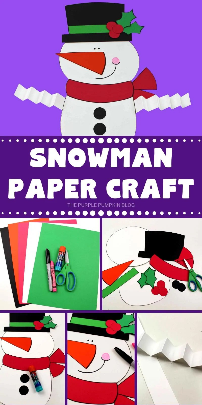 How to make a paper snowman
