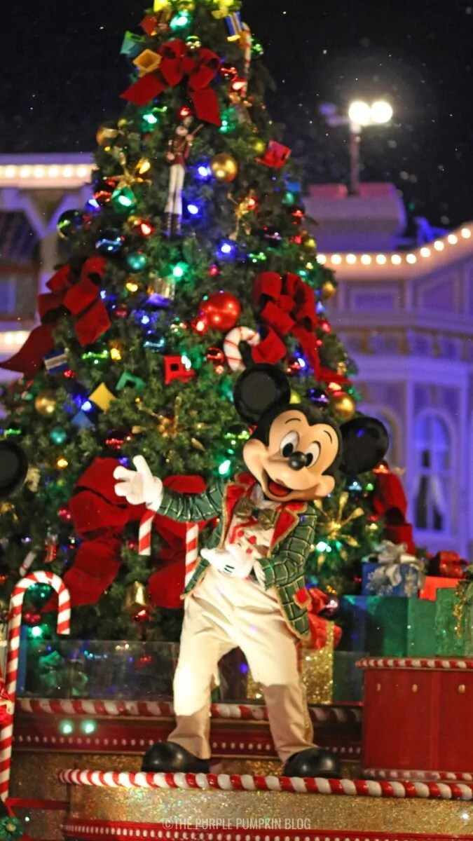Walt Disney World Christmas Phone Wallpaper Mickey Mouse