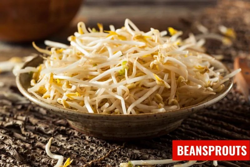 A bowl of beansprouts