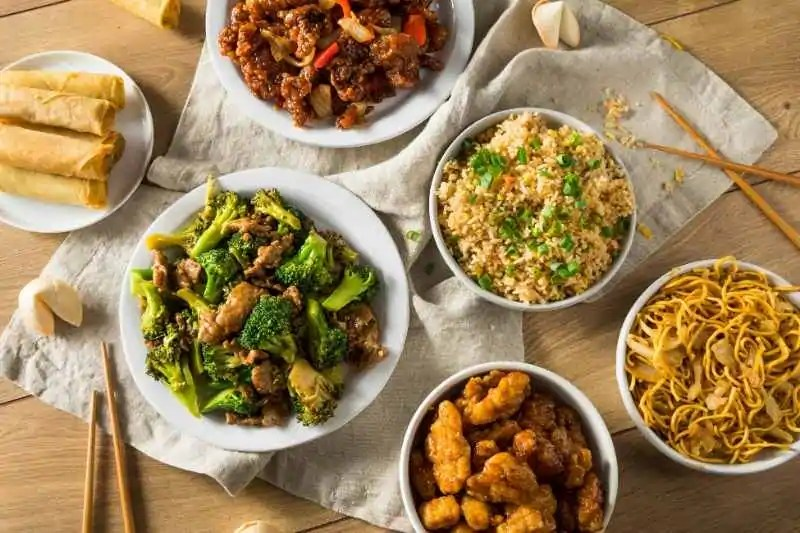 Bowls of Chinese Food