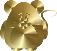 Gold Rat Graphic
