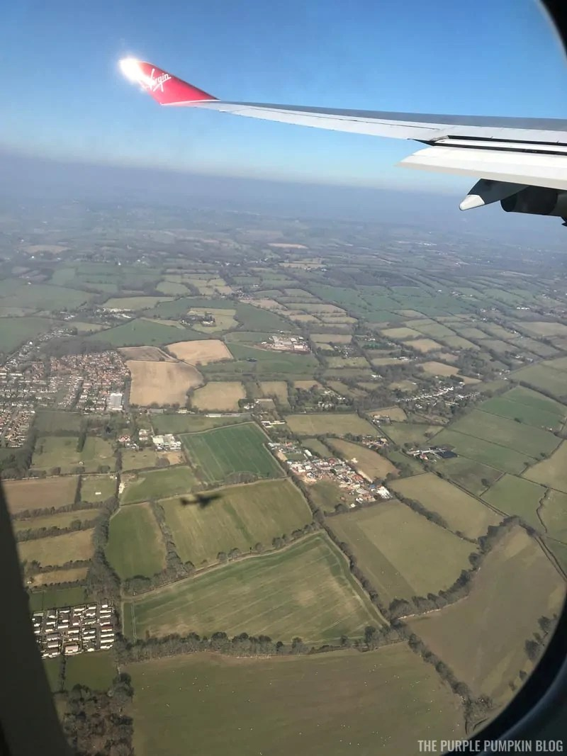 View of the UK from aeroplane