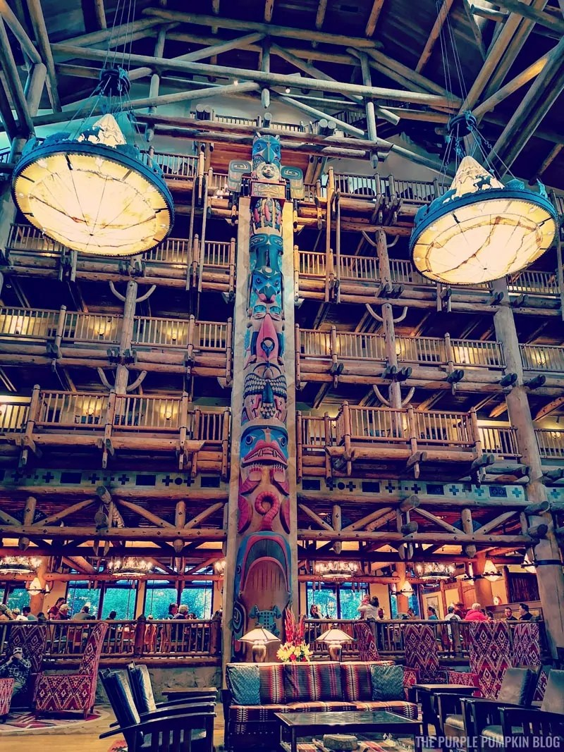 The Lobby at Disney's Wilderness Lodge