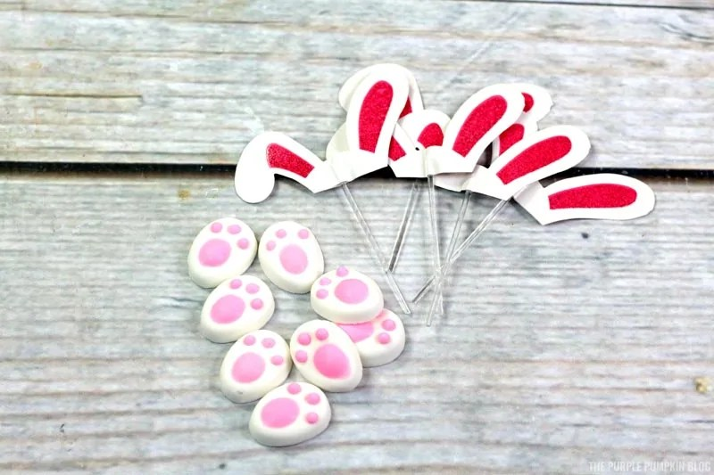 Bunny Ears & Feet Cupcake Decorations