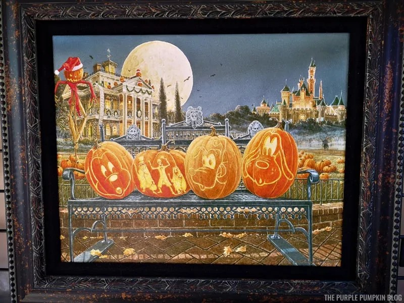Disney Haunted Mansion & Pumpkin Carvings painting