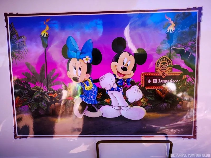 Mickey & Minnie at Luau Cove Artwork