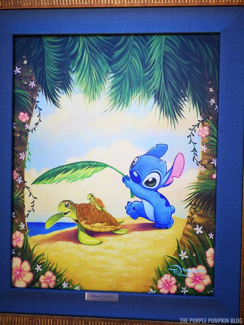 Cute Stitch painting