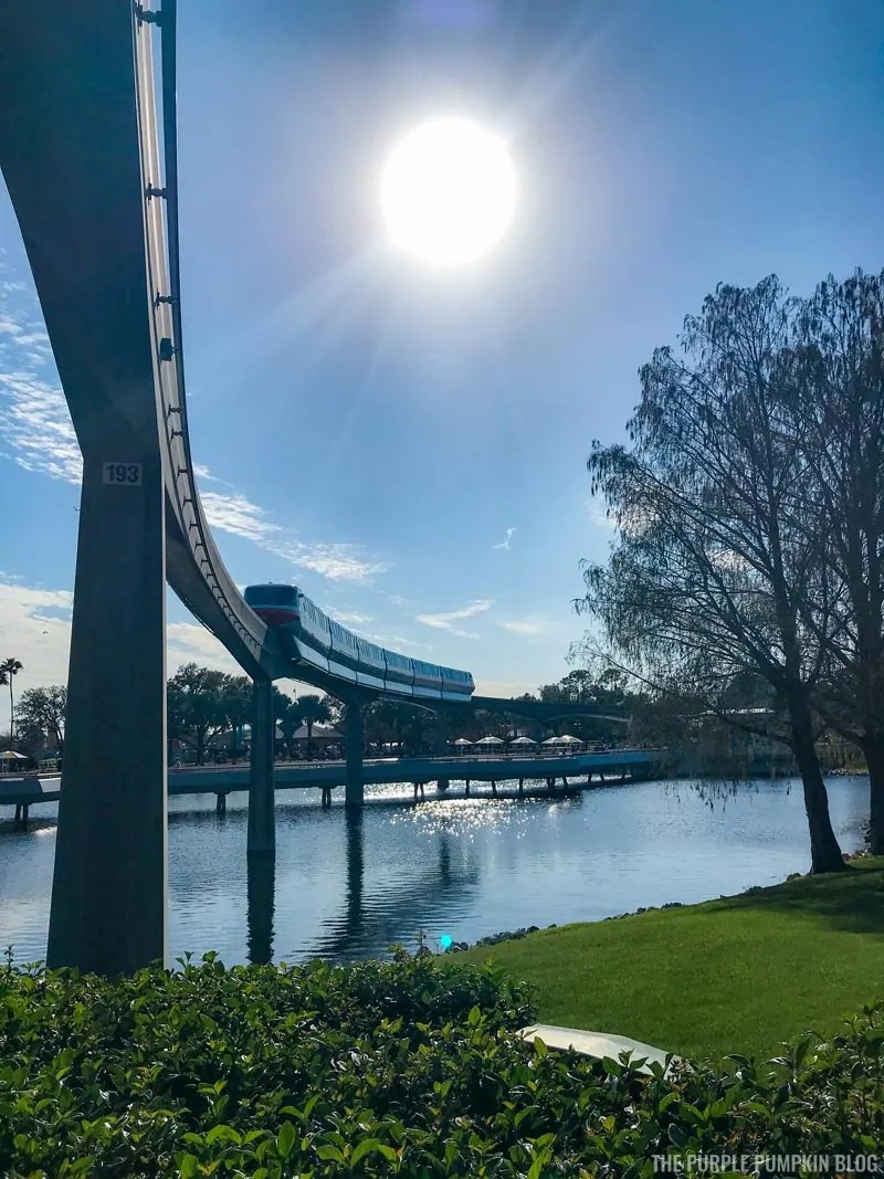 Monorail at Epcot