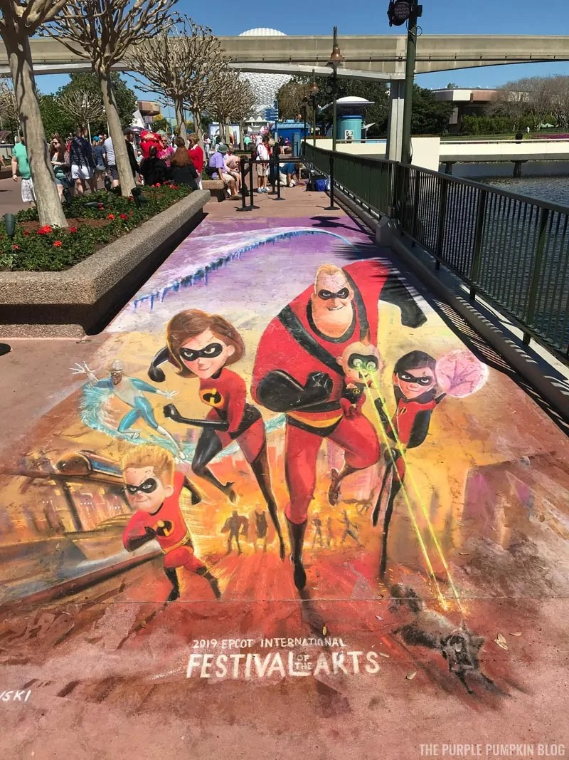 The Incredibles Chalk Drawing - FotA