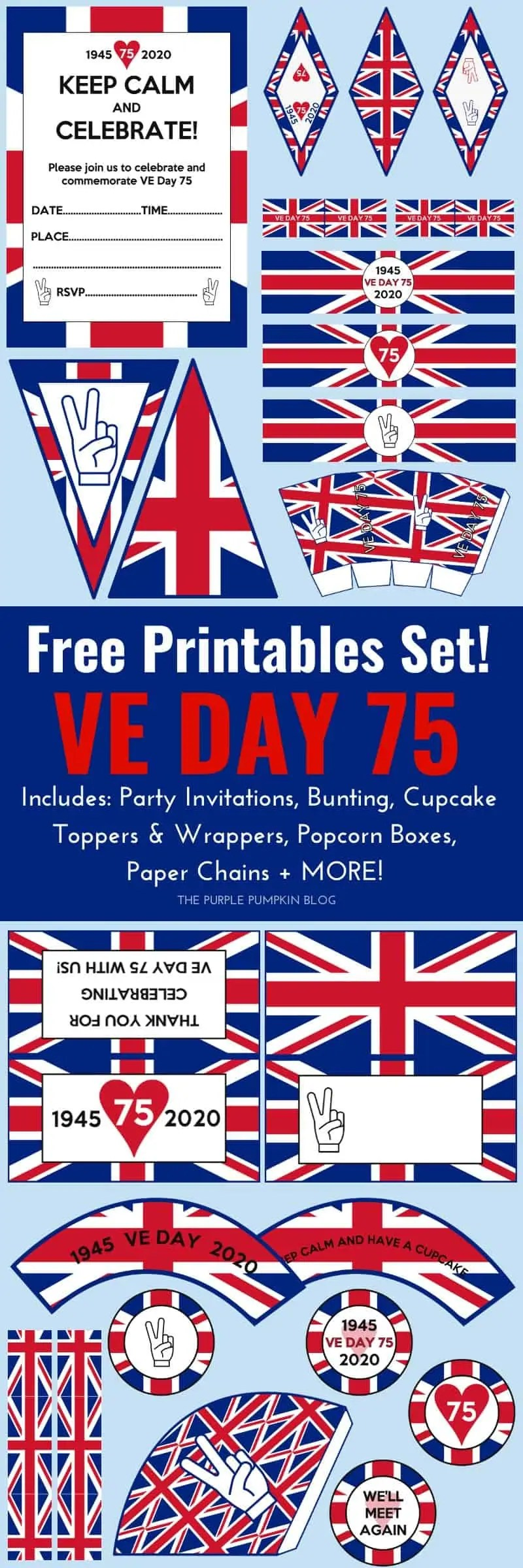 Free Printable VE Day Decorations