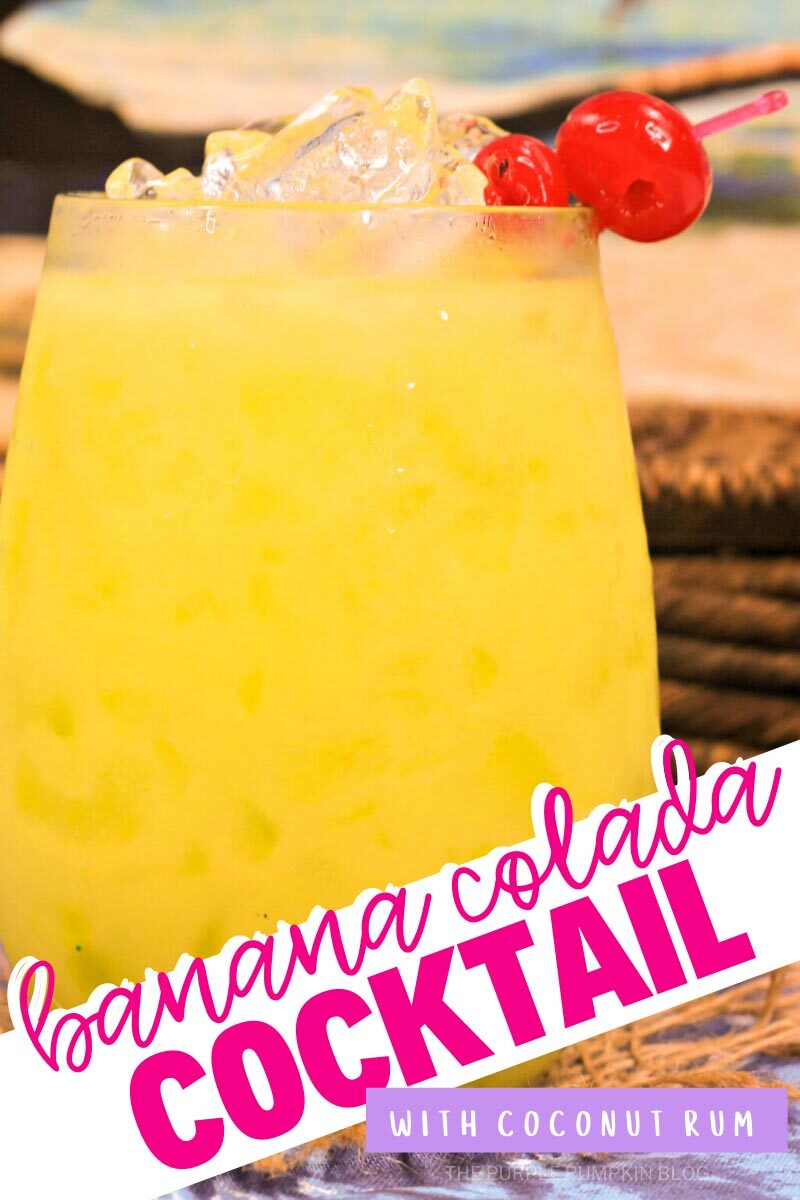 Banana Colada Cocktail with Coconut Rum