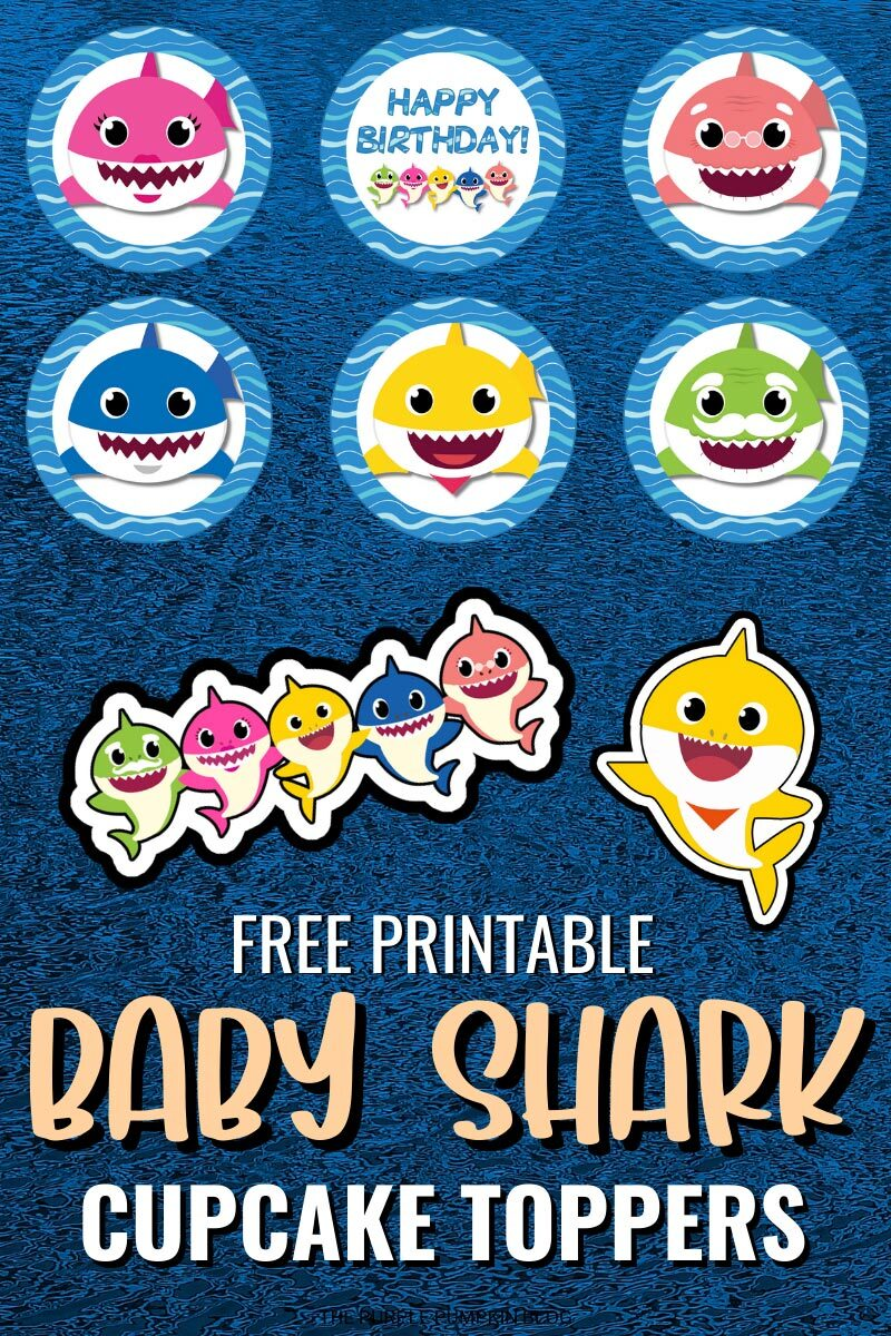 Baby Shark Cupcake Toppers To Print