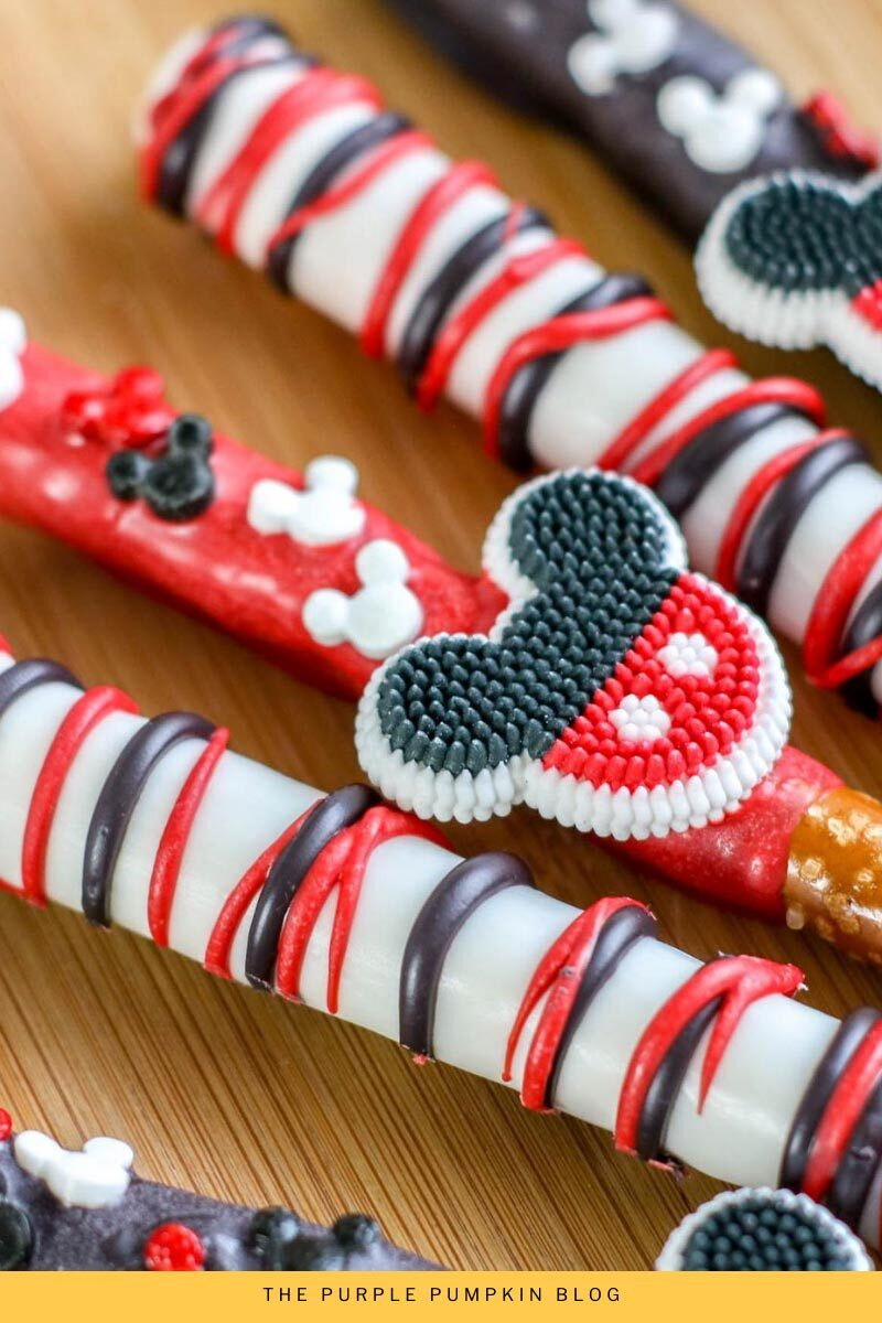 Close up Mickey Mouse Pretzel Rods