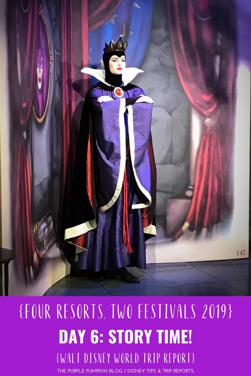 The Evil Queen - Story Book Dining at Disney's Artist Point.
