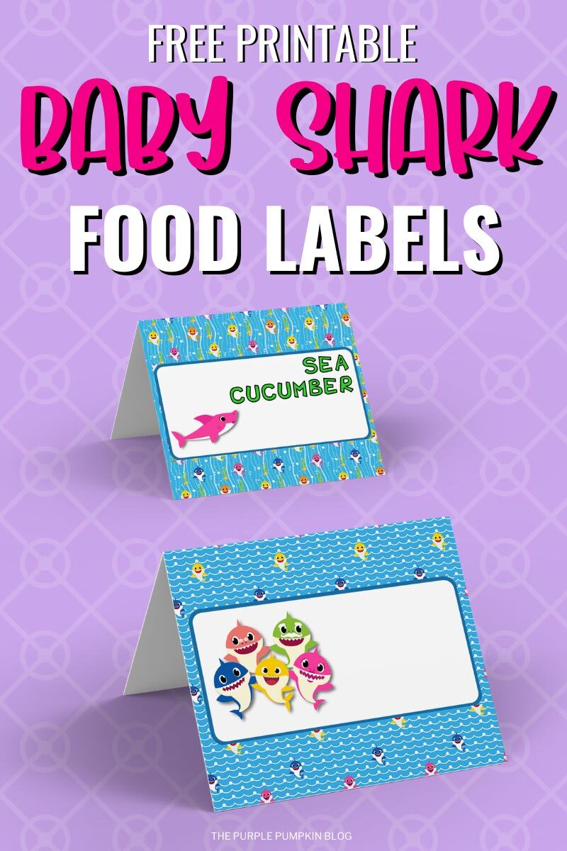 Baby Shark Food Labels to Print at Home