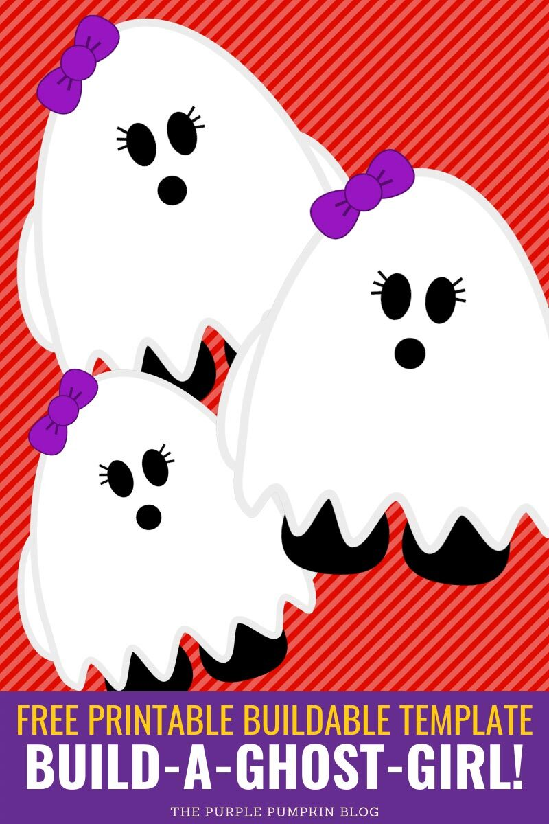 Build a Ghost Girl - Free Printable Buildable Template!
