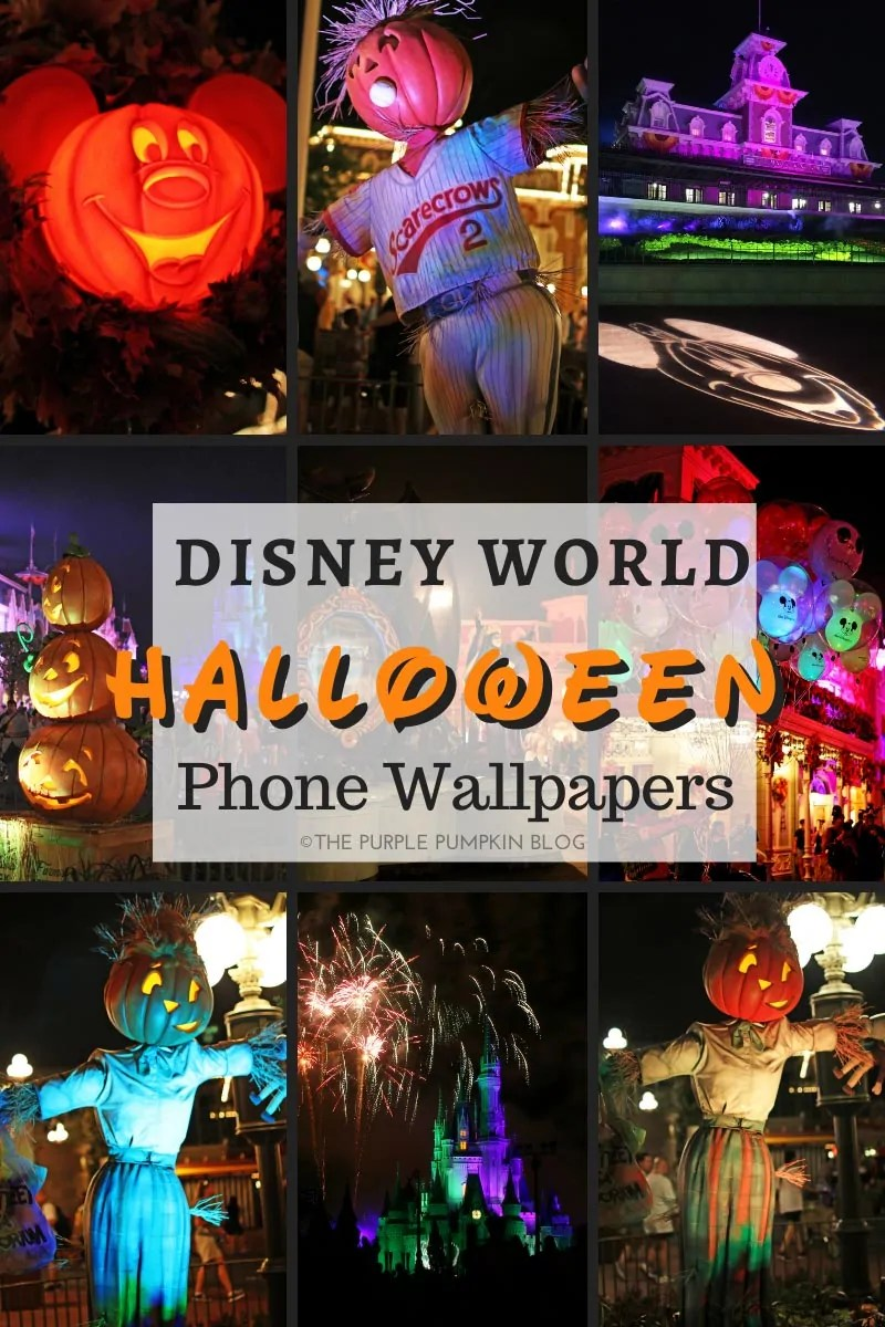 Disney World Halloween iPhone Wallpapers - as described in the blog post.