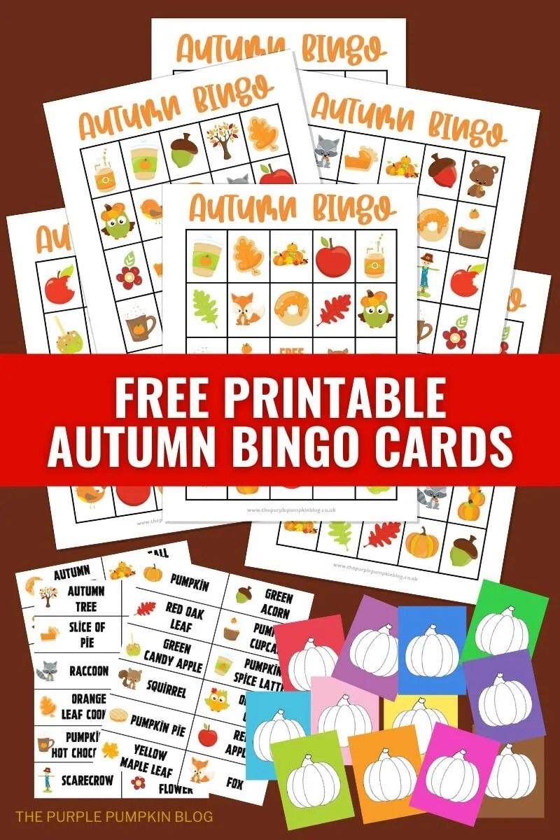 Free Printable Autumn Bingo Cards