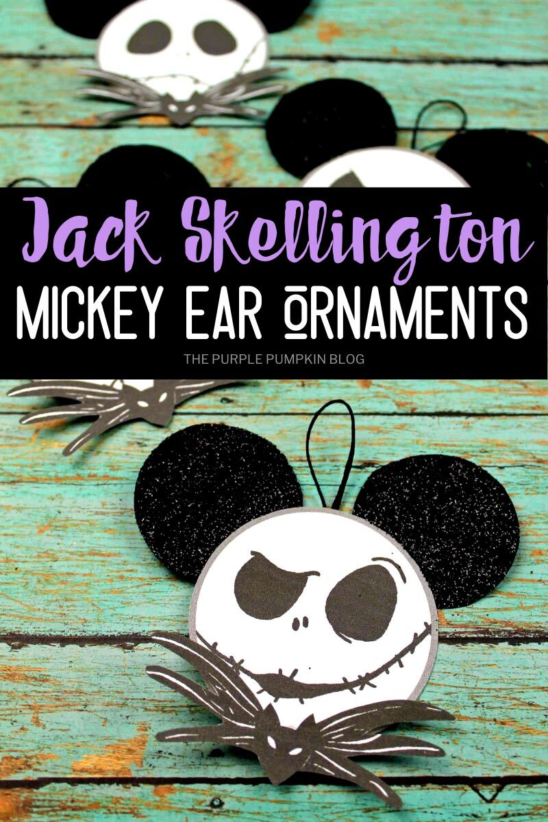 Jack Skellington Mickey Ear Ornaments Craft