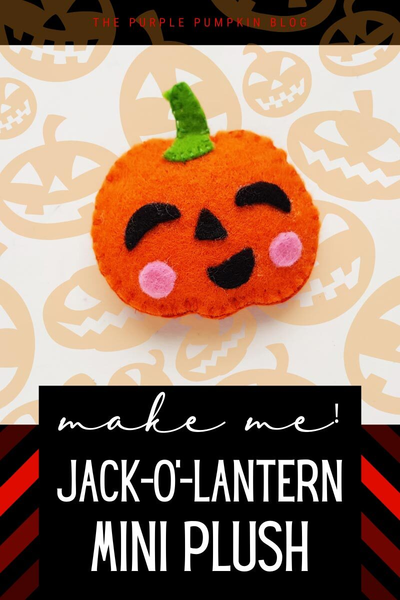 Make Me! Jack-O'-Lantern Mini Plush Craft