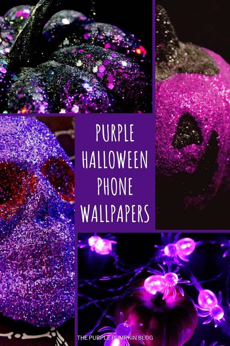 Purple Halloween iPhone Wallpapers as described in the blog post.