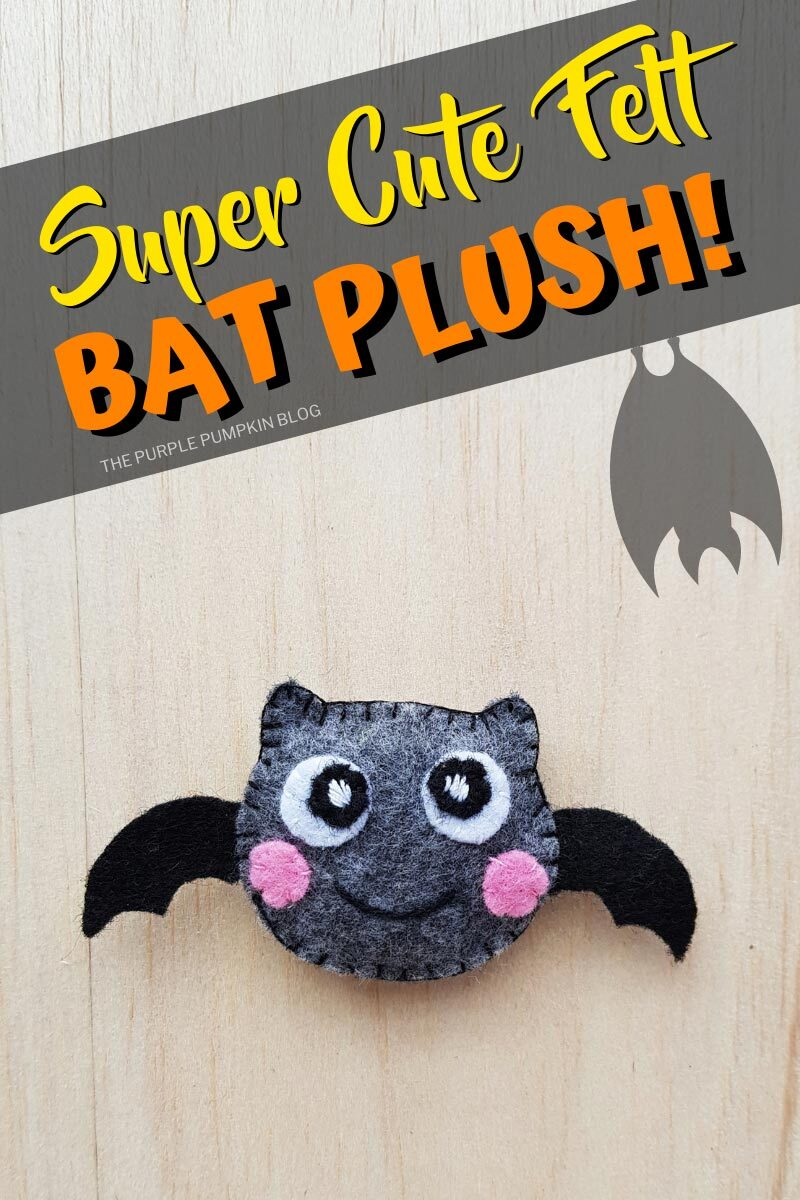 Super Cute Felt Bat Plush
