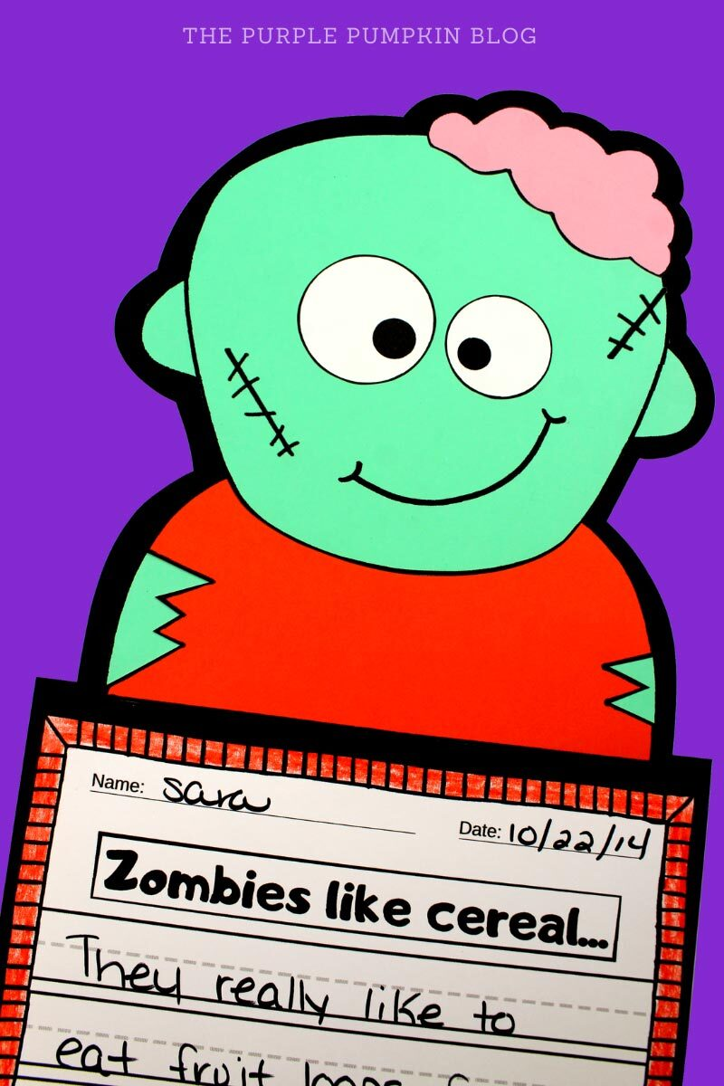 Zombie Paper Craft & Writing Prompt Activity