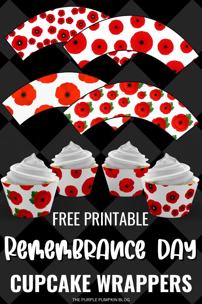 Free Printable Remembrance Day Cupcake Wrappers