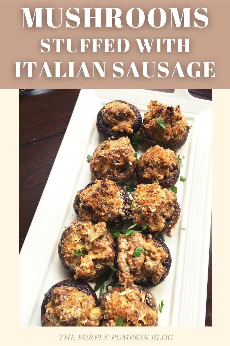 Mushrooms Stuffed with Italian Sausage Party Appetizer Recipe