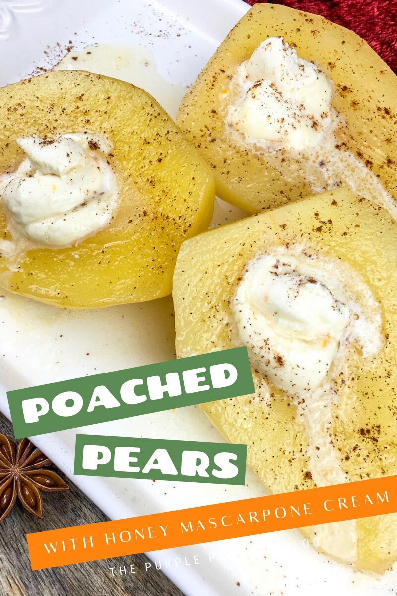 Poached Pears with Honey Mascarpone Cream