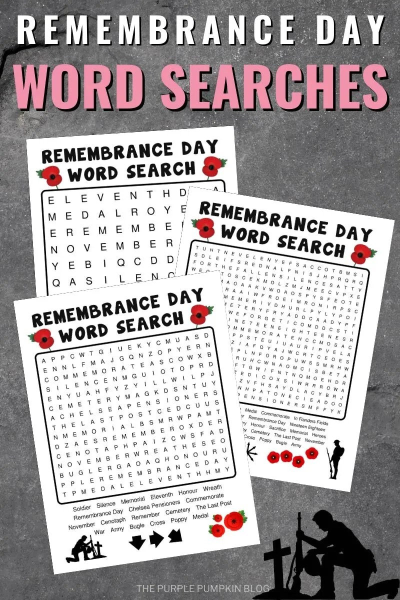 Remembrance Day Word Searches